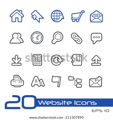 Website Icons // Line Series - stock vector