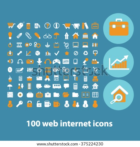 website icons, office internet concept