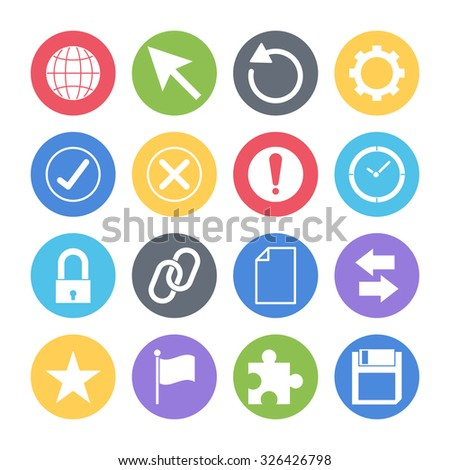 website icons set - stock vector
