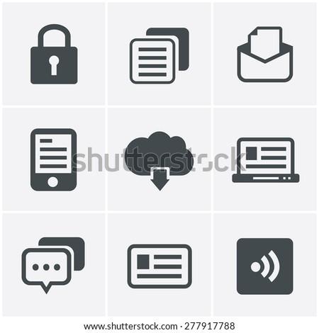 Website Icons Set, Vector Design - stock vector
