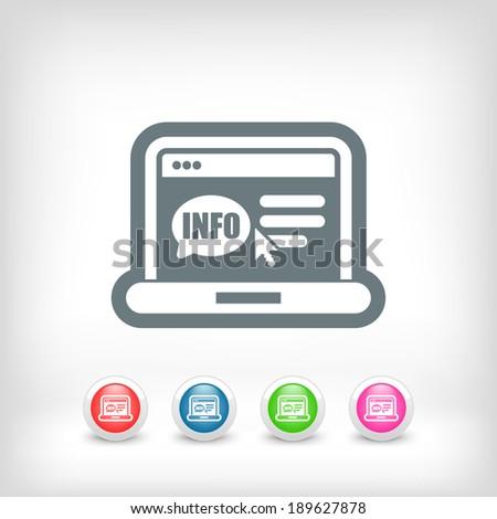 Website info icon - stock vector