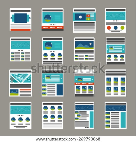 Website  layout  collection - stock vector