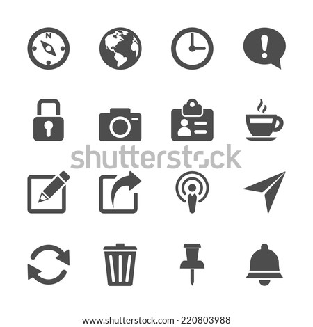 website menu icon set, vector eps10. - stock vector