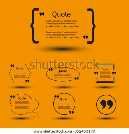 Website review quote citation blank template stock vector 352453190 website review quote citation blank template quote comment template quote bubble shop customer ccuart Choice Image