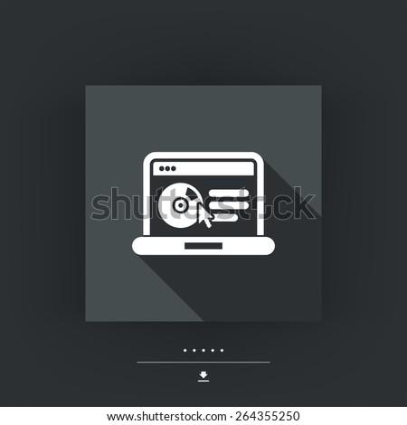 Website software icon - stock vector
