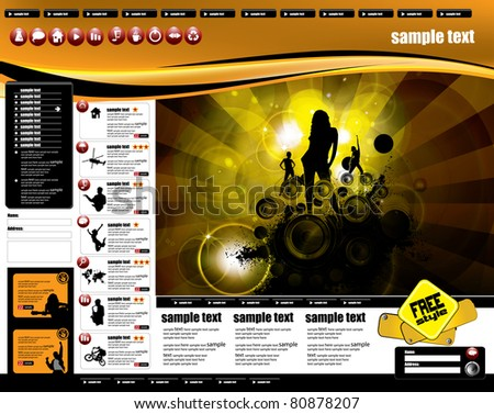 Youth website templates stock images royalty free images website template pronofoot35fo Gallery