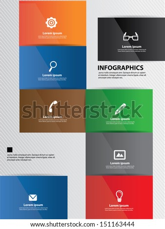 Website template, abstract,Graphics design,vector - stock vector