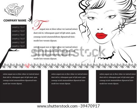 Website template. all editable vector elements. - stock vector