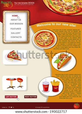 Pizza website template stock images royalty free images vectors website template design along with icons and images pizza restaurant related pronofoot35fo Images