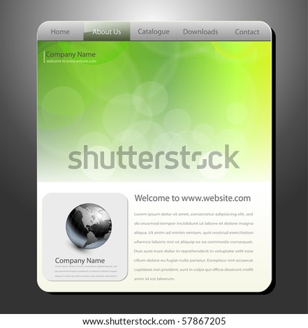 Website template, editable vector - stock vector