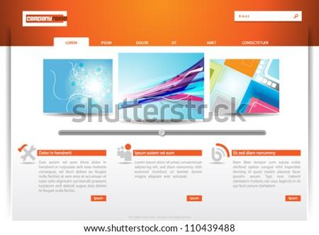 Website Template - eps10 Vector Design - stock vector