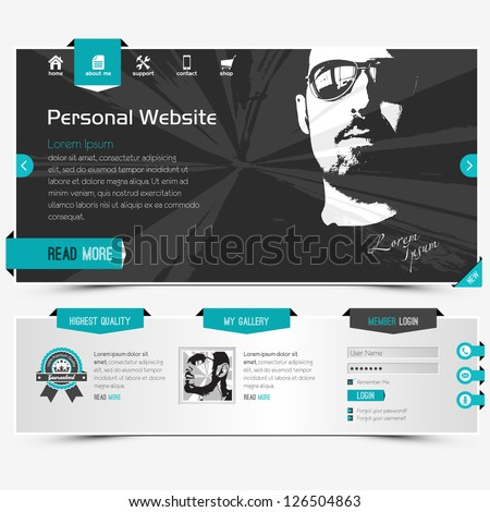 Website stock images royalty free images vectors for Personal profile design templates