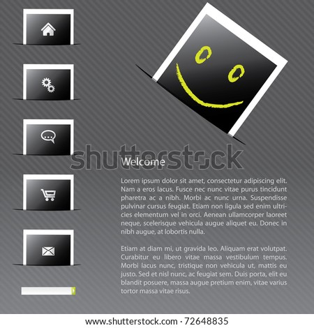 Website template for photo advertising - stock vector