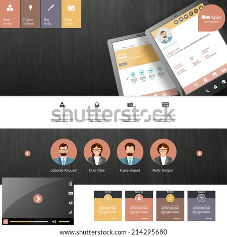 website template for smart phone company