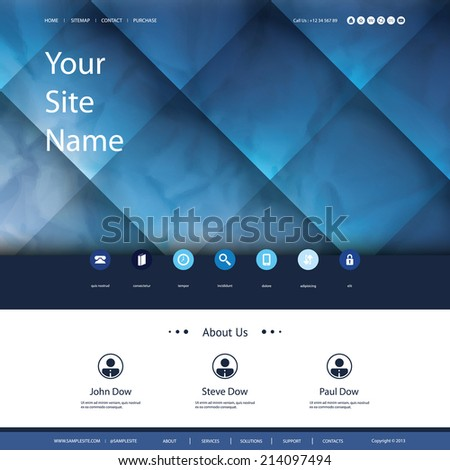Website Template for Your Business - stock vector