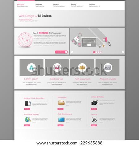website template. / Metro Website Template / - stock vector