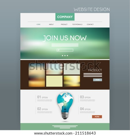 Website Template Vector Design