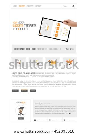 Website Template Vector Eps10 - stock vector