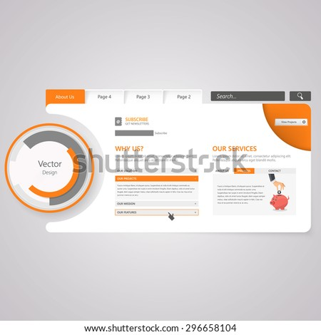 Website Template. Vector illustration. - stock vector