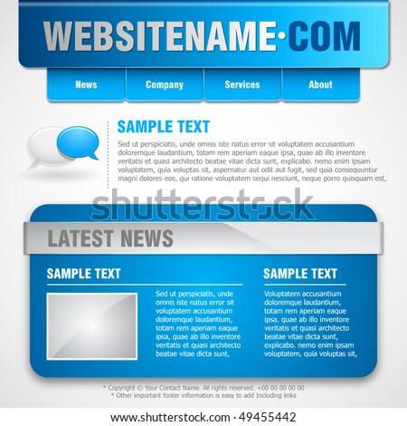 Website template. Vector Illustration - stock vector
