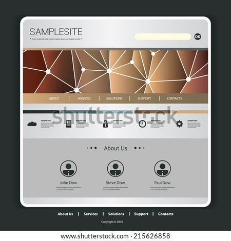 Website Template with Network Header  Design