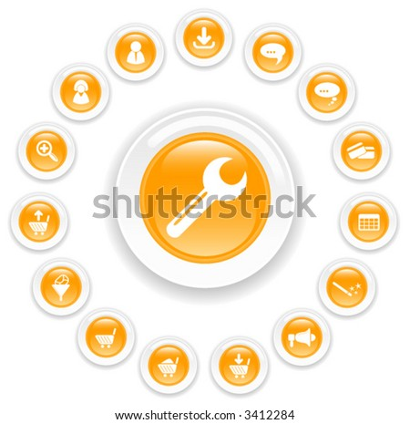 Website vector iconset - stock vector