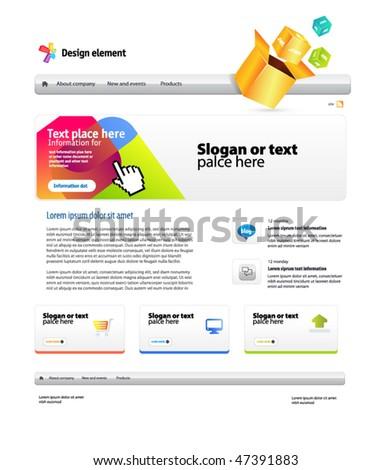 website! web 2.0 - stock vector
