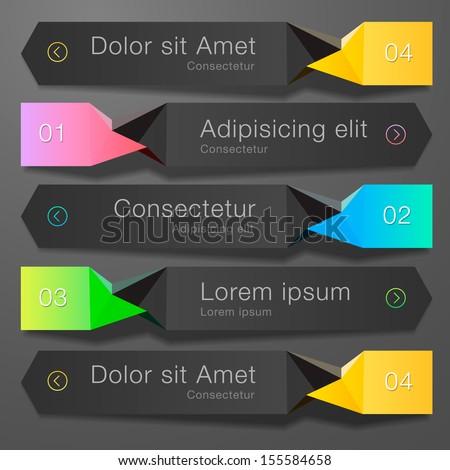 Website web design elements dark template, vector illustration.  - stock vector