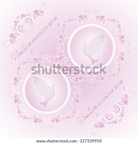Wedding anniversary invitation card greeting card stock vector wedding anniversary invitation card greeting card suitable for decoration of weddings stopboris Image collections