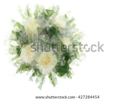 Wedding bouquet in triangle style - stock vector