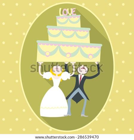 Wedding Cake - stock vector