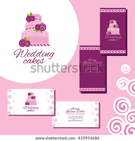 Wedding cakes logo set business cards stock vector hd royalty free wedding cakes logo set of business cards for wedding agency reheart Image collections