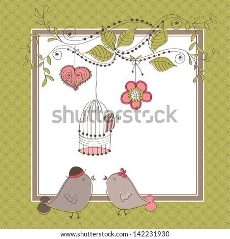 Wedding card - stock vector