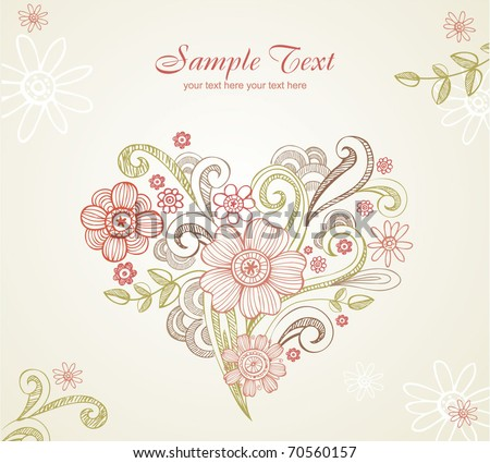 Wedding card. All elements separately, very useful for creation of any design - stock vector