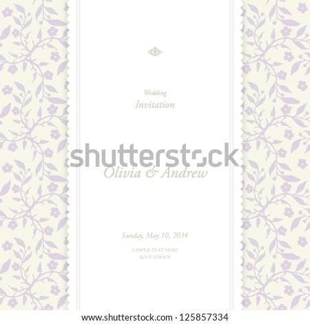 Wedding card, invitation card - stock vector
