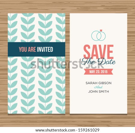 Wedding card invitation template editable pattern em vetor stock wedding card invitation template editable pattern vector design save the date card stopboris