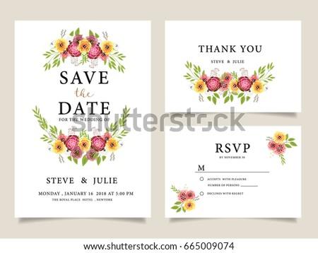Wedding Invitation Card Template Text Vector 670423363 – Wedding Card Invitation Templates