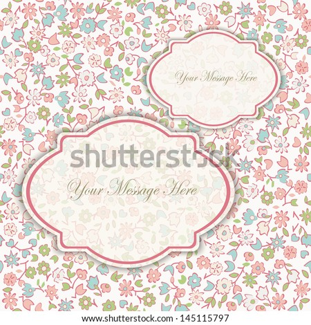 Wedding card or invitation with abstract floral background. eps10
