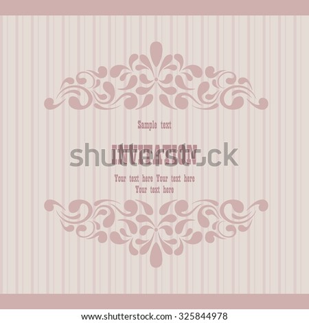 Wedding card or invitation with western pattern