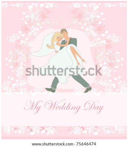 wedding couple background - stock vector