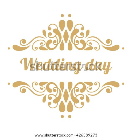 Wedding day has handwritten inscription gold stock vector 426589273 wedding day has a handwritten inscription in gold abstract elements for greeting cards invitations junglespirit Gallery