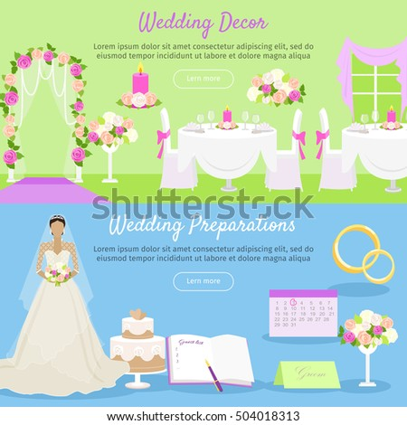 an overview of the preparations for the wedding day