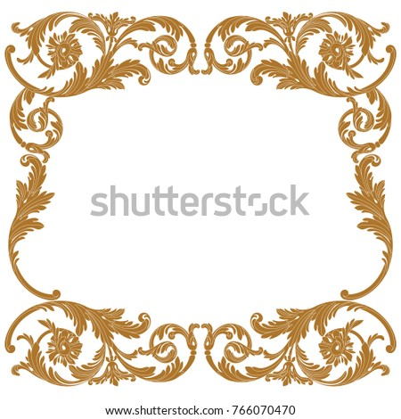 Wedding Design Set.Vintage baroque frame scroll ornament engraving border floral retro pattern antique style acanthus foliage swirl decorative design element filigree calligraphy vector.