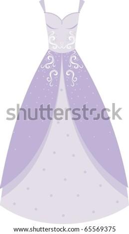 Wedding Dress - stock vector