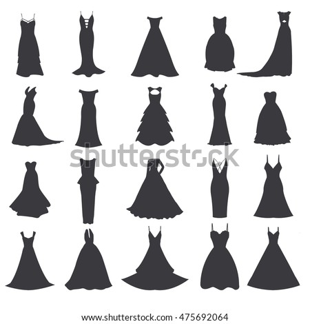 Wedding Dress Silhouette Stock Images, Royalty-Free Images ...