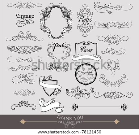wedding elements - stock vector