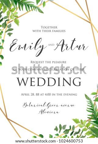 Wedding floral invitation invite save date stock vector 2018 wedding floral invitation invite save the date template vector modern elegant card design stopboris Images