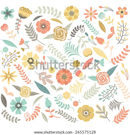 Wedding  Floral Seamless Pattern - stock vector