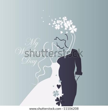 wedding graphic - stock vector