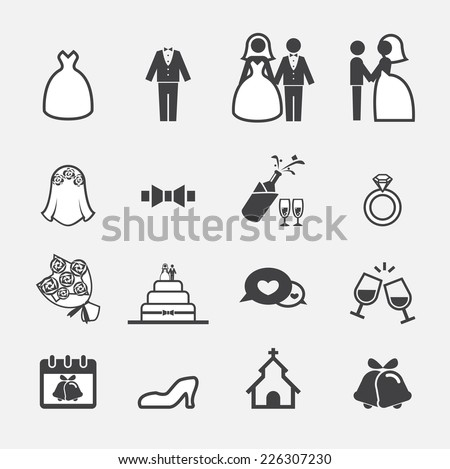 wedding icon - stock vector